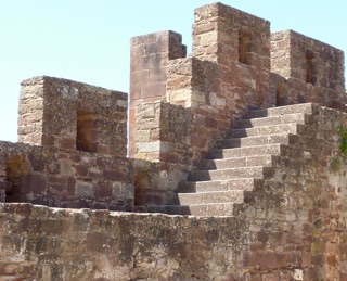 Silves Castle, detail