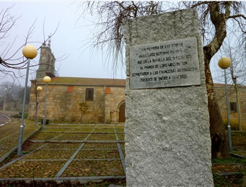 Church and memorial at Fuentes de Oñoro