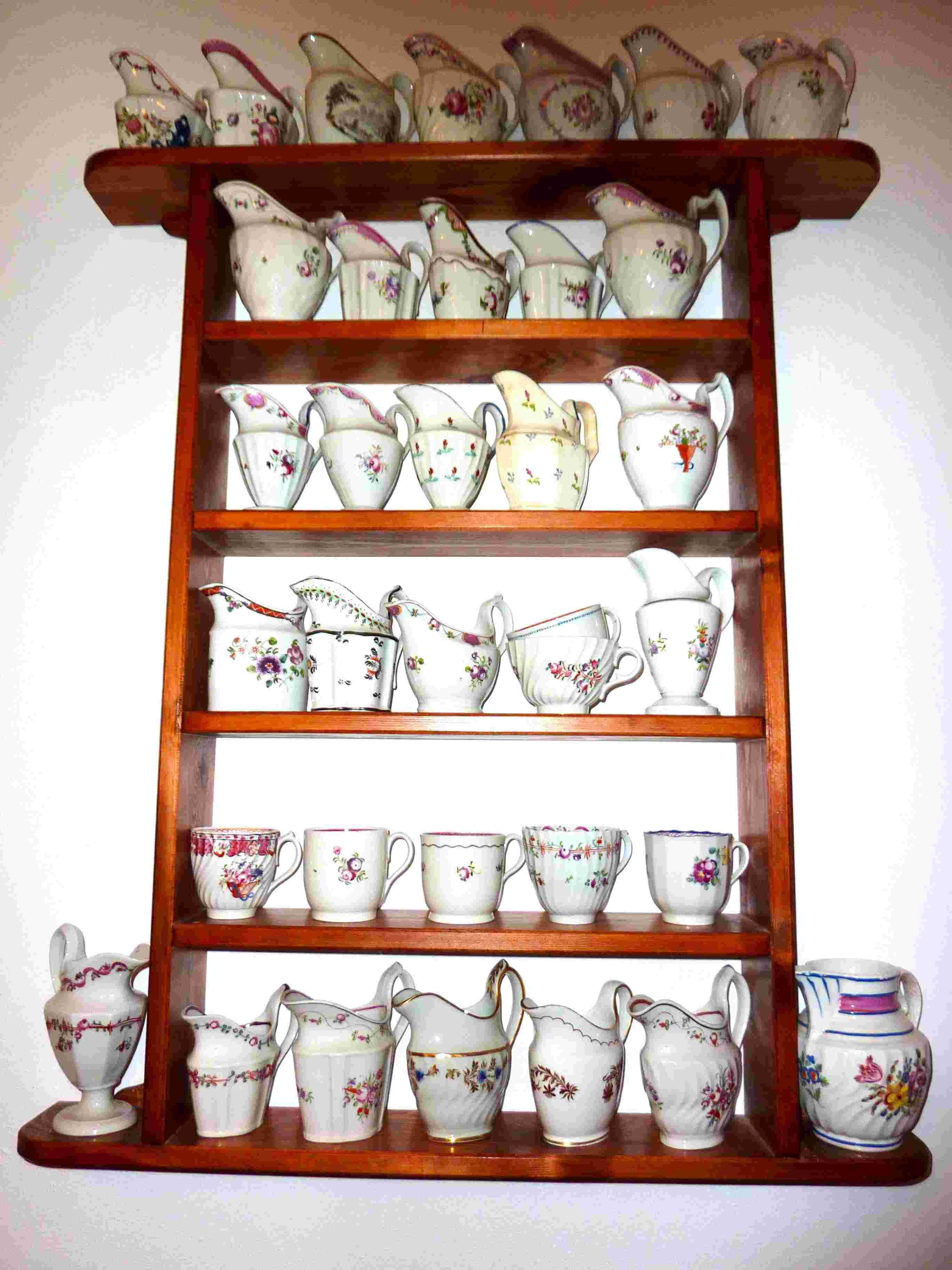 Part of the collection of milk jugs