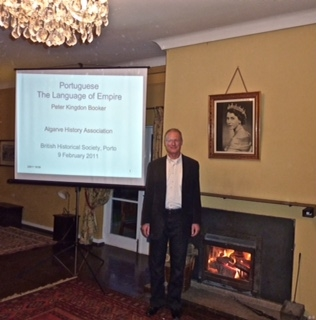 Peter with giving One of his Talks at the Oporto Branch of the British Historical Society