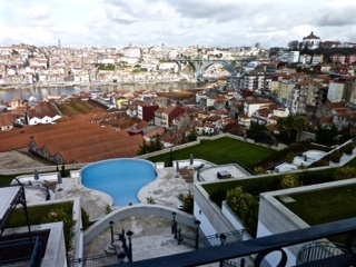 View of Porto from the Portman Hotel (with its Port Bottle shaped Swimming Pool)