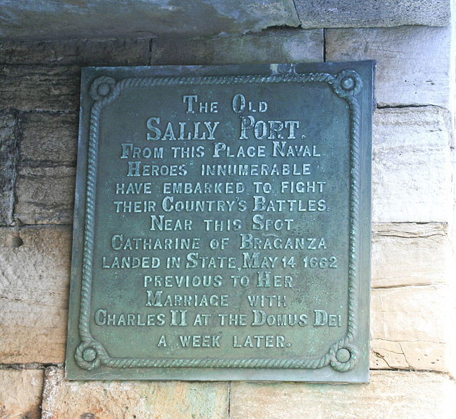 Brass plaque at Portsmouth sally port